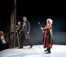 GOTTERDAMMERUNG  by Wagner   conductor: Anthony Negus   design: Kjell Torriset   lighting: Ben Ormerod   director: Alan Privett   (rear left) Stuart Pendred (Hagen), Rachel Nicholls (Brunnhilde) Lon...