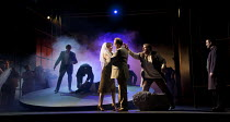 GOTTERDAMMERUNG  by Wagner   conductor: Anthony Negus   design: Kjell Torriset   lighting: Ben Ormerod   director: Alan Privett   Gutrune & Gunther marry - centre: Lee Bisset (Gutrune), Eddie Wade (G...