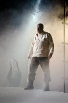GOTTERDAMMERUNG  by Wagner   conductor: Anthony Negus   design: Kjell Torriset   lighting: Ben Ormerod   director: Alan Privett   Siegfried disguised as Gunther arrives for Brunnhilde: Mati Turi (Sie...