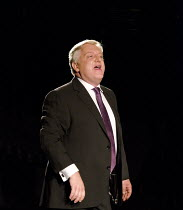 TIMON OF ATHENS   by Shakespeare   design: Tim Hatley   lighting: Bruno Poet   director: Nicholas Hytner ~Simon Russell Beale (Timon of Athens) ~Olivier Theatre / National Theatre (NT), London SE1   1...
