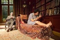 HYSTERIA   by Terry Johnson   design: Lez Brotherston   lighting: Paul Pyant   director: Terry Johnson ~Antony Sher (Sigmund Freud), Indira Varma (Jessica) ~Theatre Royal Bath (TRB), England   03/08/2...