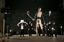 A MIDSUMMER NIGHT'S DREAM (AS YOU LIKE IT)   after Shakespeare   design: Vera Martynova   puppets: Victor Platonov   lighting: Ivan Vinogradov   director: Dmitry Krymov   at left: (top, upside down)...