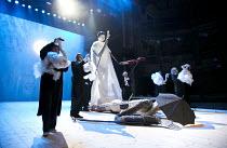 A MIDSUMMER NIGHT'S DREAM (AS YOU LIKE IT)   after Shakespeare   design: Vera Martynova   puppets: Victor Platonov   lighting: Ivan Vinogradov   director: Dmitry Krymov   entrance of Thisbe, Pyramus...