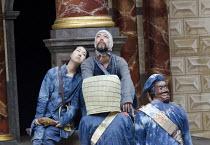 CORIOLANUS   by Shakespeare   costumes: Kyoko Domoto   director: Motoi Miura ~rear: Saki Kohno (Chorus), Dai Ishida (Coriolanus)   ~Chiten Theatre Company, Kyoto / Globe to Globe festival / Shakespear...