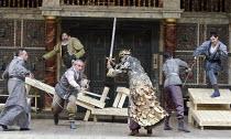 HENRY IV part 1   by Shakespeare   set design: Auda Caraza y Atenea Chavez   costumes: Mario Marin del Rio   director: Hugo Arrevillaga Serrano ~battle scene~Compania Nacional de Teatro, Mexico / Glob...