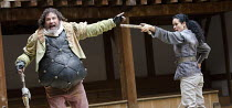 HENRY IV part 1   by Shakespeare   set design: Auda Caraza y Atenea Chavez   costumes: Mario Marin del Rio   director: Hugo Arrevillaga Serrano ~Roberto Soto (Sir John Falstaff), Gabriela Nunez (Messe...