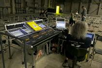 sound control desk for MITTWOCH AUS LICHT at the Birmingham Opera Company, Argyle Works, Birmingham B9, England  22/08/2012  music: Karlheinz Stockhausen  music direction: Kathinka Pasveer  design: P...