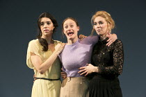 THREE SISTERS   by Chekhov   in a version by Benedict Andrews   set design: Johannes Schutz   costumes: Victoria Behr   lighting: James Farncombe   director: Benedict Andrews ~l-r: Gala Gordon (Irina)...