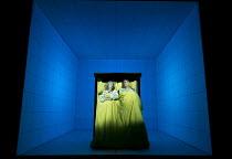 LOVE AND INFORMATION   by Caryl Churchill   set design: Miriam Buether   costumes: Laura Hopkins   lighting: Peter Mumford   director: James Macdonald ~'Sleep': Susan Engel, Paul Jesson ~Jerwood Theat...