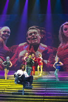 JESUS CHRIST SUPERSTAR   music: Andrew Lloyd Webber   lyrics: Tim Rice   design: Mark Fisher   lighting: Patrick Woodroffe   director: Laurence Connor ~~centre: (front) Ben Forster (Jesus), (rear) Chr...