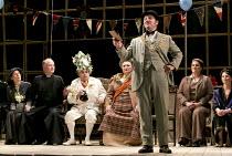 ALBERT HERRING   by Benjamin Britten   conductor: Michael Rosewell   design: Neil Irish   lighting: Guy Hoare   director: James Conway   l-r: Clarissa Meek (Mrs Herring), Charles Johnston (Mr Gedge),...