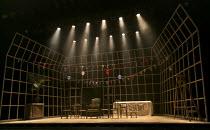 ALBERT HERRING   by Benjamin Britten   conductor: Michael Rosewell   design: Neil Irish   lighting: Guy Hoare   director: James Conway   stage,set,empty,flags,balloons English Touring Opera (ETO) /...