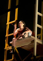 SCENES FROM AN EXECUTION   by Howard Barker   design: Hildegard Bechtler   lighting: Peter Mumford   director: Tom Cairns ~~Fiona Shaw (Galactia) ~Lyttelton Theatre / National Theatre (NT), London SE1...