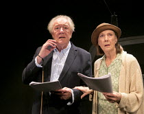 ALL THAT FALL   by Samuel Beckett   design: Cherry Truluck   lighting: Phil Hewitt   director: Trevor Nunn ~Michael Gambon (Mr Rooney), Eileen Atkins (Mrs Rooney) ~Jermyn Street Theatre, London SW1...