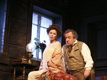 UNCLE VANYA   by Chekhov   design: Christopher Oram   lighting: Paul Pyant   director: Lindsay Posner ~Anna Friel (Yelena), Ken Stott (Uncle Vanya)~Vaudeville Theatre, London WC2   02/11/2012