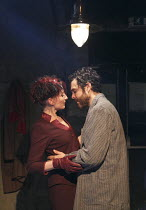 LOT AND HIS GOD   by Howard Barker   design: Fotini Dimou   lighting: Peter Mumford   director: Robyn Winfield-Smith ~~Hermione Gulliford (Sverdlosk), Justin Avoth (Drogheda)~The Print Room, London W2...