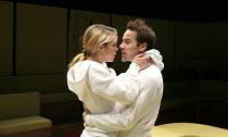 THE EFFECT   by Lucy Prebble   design: Miriam Buether   lighting: Jon Clark   director: Rupert Goold ~Billie Piper (Connie), Jonjo O'Neill (Tristan) ~Cottesloe Theatre / National Theatre (NT), London...
