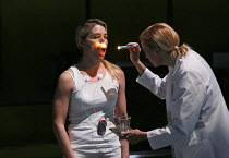 THE EFFECT   by Lucy Prebble   design: Miriam Buether   lighting: Jon Clark   director: Rupert Goold ~l-r: Billie Piper (Connie), Anastasia Hille (Dr James)~Cottesloe Theatre / National Theatre (NT),...