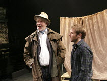 THE SEAGULL   by Chekhov   in a new version by Anya Reiss   design: Jean Chan   lighting: Tim Mascall   director: Russell Bolam   l-r: Matthew Kelly (Dorn), Joseph Drake (Konstantin) Southwark Playh...