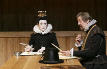 TWELFTH NIGHT   by Shakespeare   design: Jenny Tiramani   lighting: David Plater   director: Tim Carroll   I/v - l-r: Mark Rylance (Olivia), Stephen Fry (Malvolio)  Shakespeare's Globe production /...