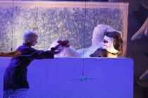THE SNOWMAN   based on the story by Raymond Briggs   music & lyrics: Howard Blake   design: Ruari Murchison   lighting: Tim Mitchell   director: Bill Alexander   l-r: Joe Sheridan (The Boy), James L...