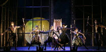 SLEEPING BEAUTY   music: Tchaikovsky   design: Lez Brotherston   lighting: Paule Constable   chroreographed & directed by Matthew Bourne   Act 1 - the fairies visit baby Aurora - l-r: Liam Mower (Tan...