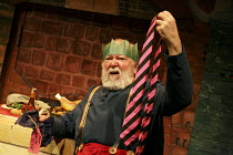 FATHER CHRISTMAS   by Raymond Briggs   adapted by Pins & Needles   design: Zoe Squire   director: Emma Earle   not thrilled with tie present: Barry McCarthy (Father Christmas)  Lyric Hammersmith (LT...