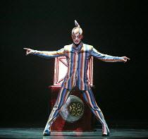 KOOZA   set design: Stephane Roy   costumes: Marie-Chantale Vaillancourt   makeup: Florence Cornet   lighting: Martin Labrecque   writer & director: David Shiner   'The Trickster' (Jason Berrent) Ci...