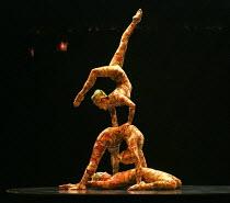 KOOZA   set design: Stephane Roy   costumes: Marie-Chantale Vaillancourt   makeup: Florence Cornet   lighting: Martin Labrecque   writer & director: David Shiner   'Contortion' Cirque du Soleil / Ro...