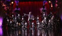 KOOZA   set design: Stephane Roy   costumes: Marie-Chantale Vaillancourt   make-up: Florence Cornet   lighting: Martin Labrecque   writer & director: David Shiner   the 'Wheel of Death' sequence: 'D...