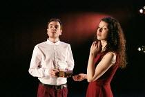 FIESCO   by Schiller   in a new version by Daniel Millar & Mark Leipacher   director: Mark Leipacher ~Richard Delaney (Fiesco), Laura Freeman (Leonora)~Faction Theatre Company / New Diorama Theatre, L...
