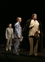 THE JUDAS KISS   by David Hare   design: Dale Ferguson   costumes: Sue Blane   lighting: Rick Fisher   director: Neil Armfield ~l-r: Cal Macaninch (Robbie Ross), Freddie Fox (Bosie), Rupert Everett (O...