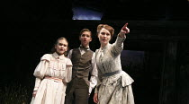 THE TURN OF THE SCREW   by Henry James   adapted by Rebecca Lenkiewicz   design: Peter McKintosh   lighting: Tim Mitchell   director: Lindsay Posner   seeing an apparition - l-r: Emilia Jones (Flora)...