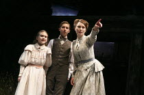 THE TURN OF THE SCREW   by Henry James   adapted by Rebecca Lenkiewicz   design: Peter McKintosh   lighting: Tim Mitchell   director: Lindsay Posner   seeing an apparition -l-r: Emilia Jones (Flora),...