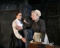 l-r: Anna Madeley (Governess), Gemma Jones (Mrs Grose) in THE TURN OF THE SCREW by Henry James at the Almeida Theatre, London N1  24/01/2013  adapted by Rebecca Lenkiewicz  design: Peter McKintosh  l...