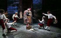 THE WINTER'S TALE   by Shakespeare   design: William Dudley   lighting: Oliver Fenwick   director: Lucy Bailey ~IV/iv - centre: Pearce Quigley (Autolycus)~Royal Shakespeare Company (RSC) / Royal Shake...