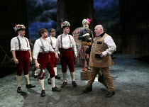THE WINTER'S TALE   by Shakespeare   design: William Dudley   lighting: Oliver Fenwick   director: Lucy Bailey ~IV/iv - rear right: Pearce Quigley (Autolycus)   front right: Nick Holder (Young Shepher...