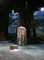 THE WINTER'S TALE   by Shakespeare   design: William Dudley   lighting: Oliver Fenwick   director: Lucy Bailey ~IV/iv: stage,set,tent,sky,empty~Royal Shakespeare Company (RSC) / Royal Shakespeare Thea...