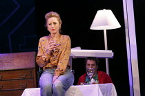 ONE FOR THE ROAD   by Willy Russell   design: Jessica Curtis   lighting: Philip Gladwell   director: Laurie Sansom ~Nicola Stephenson (Jane), Con O'Neill (Dennis)~Theatre Royal / Royal & Derngate, Nor...