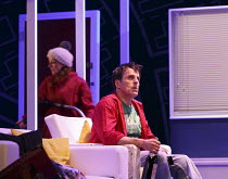 ONE FOR THE ROAD   by Willy Russell   design: Jessica Curtis   lighting: Philip Gladwell   director: Laurie Sansom ~Michelle Butterly (Pauline), Con O'Neill (Dennis)~Theatre Royal / Royal & Derngate,...