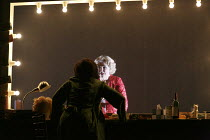 LA VOIX HUMAINE   by Poulenc   conductor: Wyn Davies   set design: Giles Cadle   costumes: Gabrielle Dalton   lighting: Andreas Fuchs   choreographer & director: Aletta Collins   final moments - Elle...