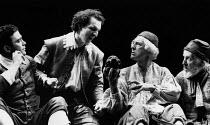 HAMLET   by Shakespeare   design: Nick Ormerod   lighting: Rick Fisher & Judith Greenwood   director: Declan Donnellan   centre: Timothy Walker (Hamlet), Peter Needham (1st Gravedigger) Cheek by Jow...
