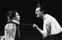 HAMLET   by Shakespeare   design: Nick Ormerod   lighting: Rick Fisher & Judith Greenwood   director: Declan Donnellan   Natasha Parry (Gertrude), Timothy Walker (Hamlet)  Cheek by Jowl / Lyric Hamm...