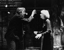 HAMLET  by Shakespeare   design & lighting: Giorgi Meskhishvili   director: Robert Sturua   Alan Rickman (Hamlet), Geraldine McEwan (Gertrude)  Riverside Studios, London W6   15/09/1992 (c) Donald...