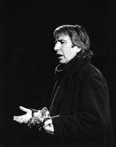 HAMLET  by Shakespeare   design & lighting: Giorgi Meskhishvili   director: Robert Sturua   Alan Rickman (Hamlet) Riverside Studios, London W6   15/09/1992 (c) Donald Cooper/Photostage   photos@ph...