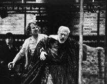 HAMLET  by Shakespeare   design & lighting: Giorgi Meskhishvili   director: Robert Sturua   l-r: Alan Rickman (Hamlet), David Burke (Claudius) Riverside Studios, London W6   15/09/1992 (c) Donald...