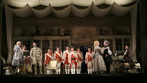 THE BARBER OF SEVILLE   by Rossini   conductor: Jaime Martin   design: Tanya McCallin   lighting: Tom Mannings   director: Jonathan Miller ~left: Andrew Kennedy (Count Almaviva), Katherine Broderick (...