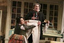 THE BARBER OF SEVILLE   by Rossini   conductor: Jaime Martin   design: Tanya McCallin   lighting: Tom Mannings   director: Jonathan Miller ~Katherine Broderick (Berta), Andrew Shore (Doctor Bartolo)~E...