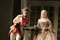 THE BARBER OF SEVILLE   by Rossini   conductor: Jaime Martin   design: Tanya McCallin   lighting: Tom Mannings   director: Jonathan Miller ~Andrew Kennedy (Count Almaviva), Lucy Crowe (Rosina)~English...