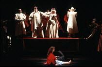 HAMLET   by Shakespeare   design: Goran Wassberg   lighting: Hans Akesson   director: Ingmar Bergman   'The Mousetrap' - top: the Player King & Queen   below: Pernilla Ostergren (Ophelia) Royal Dram...